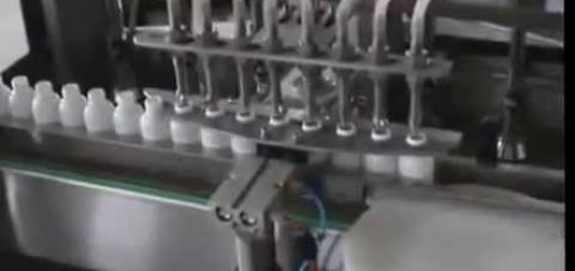 8 head  Liquid filling machine , pick and place screw Capping machine