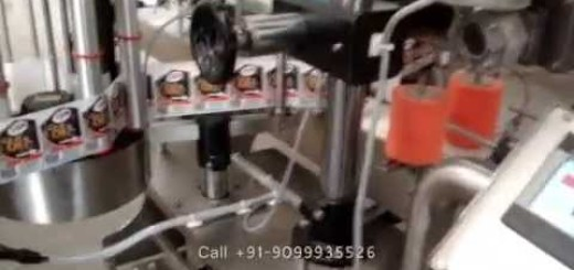 Double Side Labeling Machine for 1 to 5 liter Can, Jerry can, lubricant can, Edible oil can,