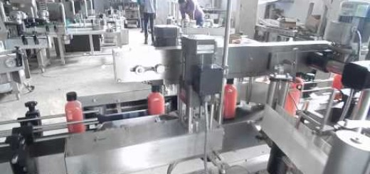 Double Side labeling machine for Juice Square bottle, Pet Square Bottle,