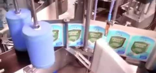 Double Side Sticker Labeling Machine for disinfectant Detergent, Household Liquid Cleaners