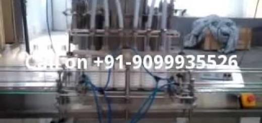 Filling machine for white phenyle, green phenyl, Black phenol, Hashwashing gel