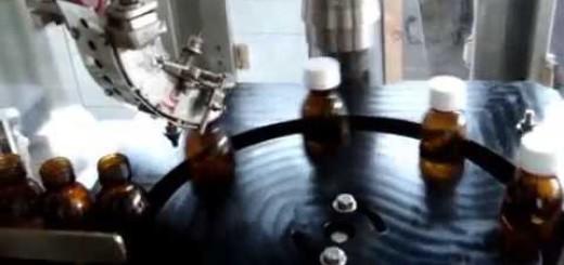 Four Head Liquid Filling Line , 4 Head Filling machine, Screw Capper , Sticker labeler machine