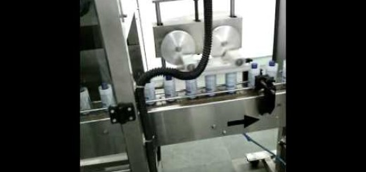 Glass Bottle Shrink Sleeve Applicator Machine with tunnel