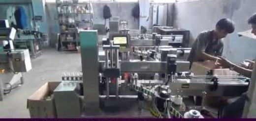 One Side Adhesive Label Sticking Machine for flat bottle, oval bottle, jerry can