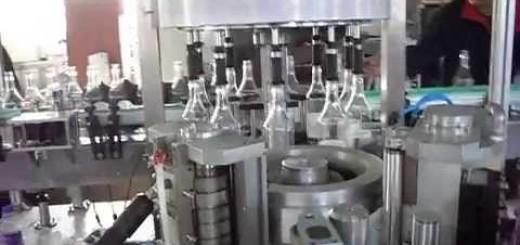 Rotary Bottle Self adhesive Sticker labelling machine , BOPP Hot melt labeling machine