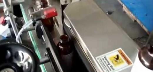 Round Bottle Sticker Labeling Machine, Label Sticking Machine on Bottle