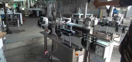 Round Bottle Sticker Labeling Machine (Trail before finishing of machine)