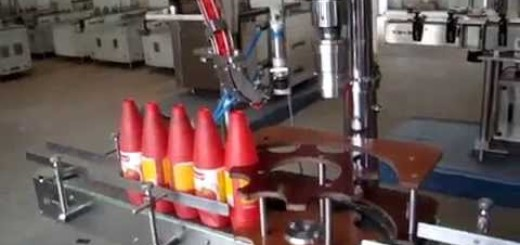 Sauce bottle Capper machine , Screw capping machine for Tomato Sauce bottle