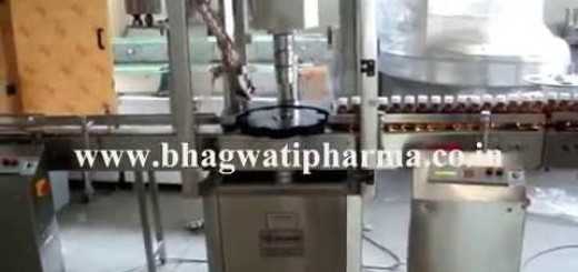 Screw Cap Sealing Machine, Single Head Screw Capping Machine for 30ml Syrup Bottle