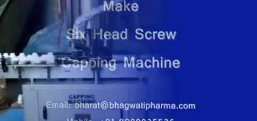 Screw capping machine, Screw capper for Square , Oval bottle