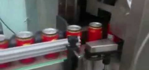 Shrink Sleeve machine , Bear softdrink Tin bottle Shrink Sleeve applicator