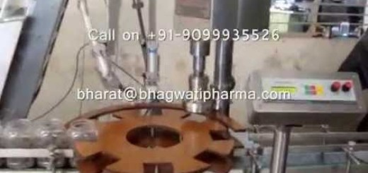Single Head Screw Capping Machine with Cap Elevator, Inline Rotary Screw Capper