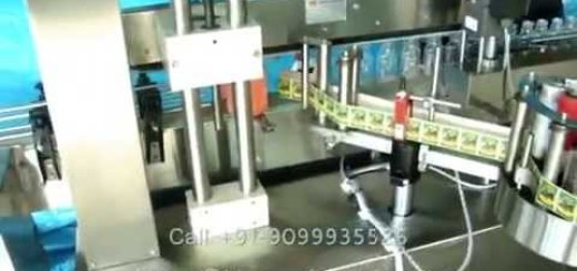 single side flat bottle sticker Labeling Machine