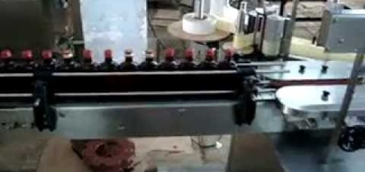 Single Side Flat Bottle Sticker Labelling Machine