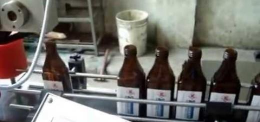Single Side Labeling Machine , Flat bottle sticker labelling machine