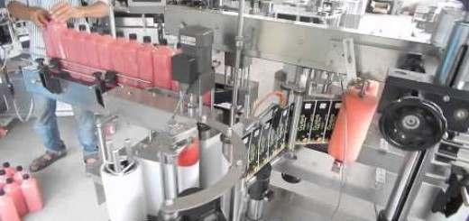 Single/Double Side Sticker Labeling Machine for Aloe Vera Juice Bottle, Pet bottle