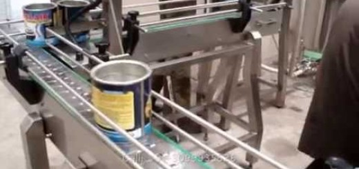 Tin/Can Filling and Packing Line , Color Tin filling with Lid pressing machine