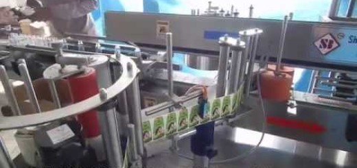 Two Side Sticker Labeling, Cosmetic, food, Hair oil bottle labeler machine