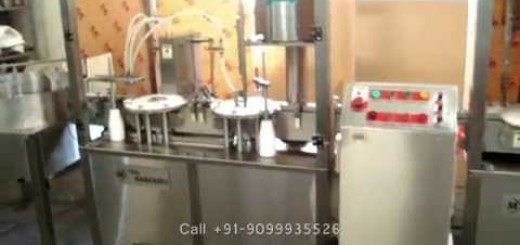 Vial Filling, Rubber Stoppering & Vial Cap Sealing Machine