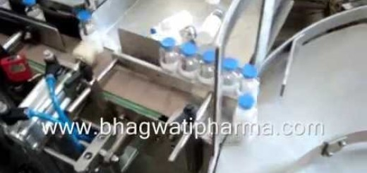 Vial Sticker labeling machine with Camera vision systems.wmv