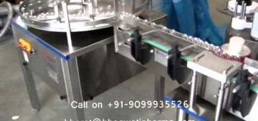 Vial Sticker Labeling Machine with printer, Automatic Vial Sticker Labeling Machine