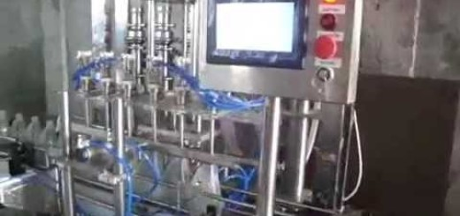 Viscous filling line, Viscous filler machine, Linear Screw capper , double side labeler machine