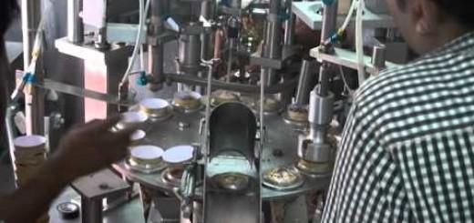 Ice Cream cup filling sealing machine , Ice cream cone filling machine