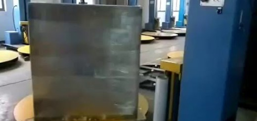Pallet wrapping machine with top pressing system ,Pallet Stretch Wrapper Machine