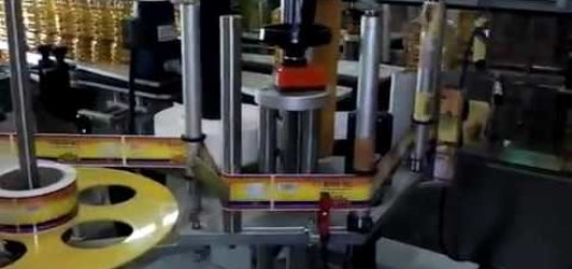 oil bottle Self adhesive Sticker labeling machine , Three side oil bottle sticker labellers