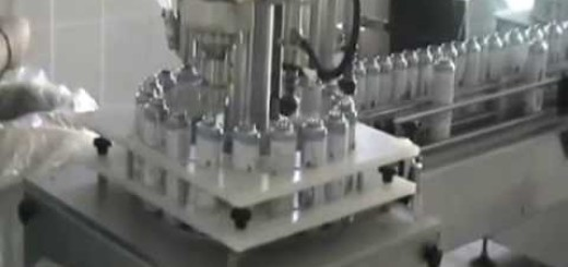 Aerosol filling line  ,Aerosol Filling Crimping machine with  Gassing System