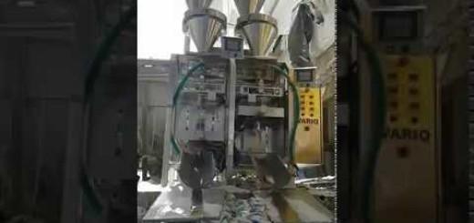 VFFS Salt Cup filler , Two Double head Salt cup vffs pouch filling machine