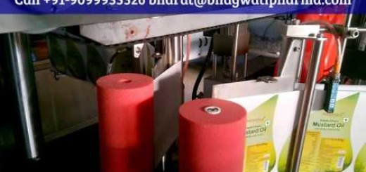 Automatic sticker labeling machine for Jerry can, hdpe jar, oil jar INDIA