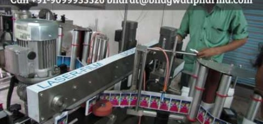 both side sticker labeling machine for plastic plates, plastic containers