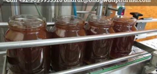 Fully Automatic Honey Jar Filling, Capping Machine INDIA