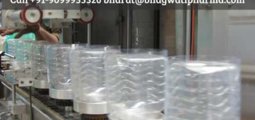 Shrink Sleeve Applicator with Tunnel for Pet Square Jar, Pet Rectangle jar