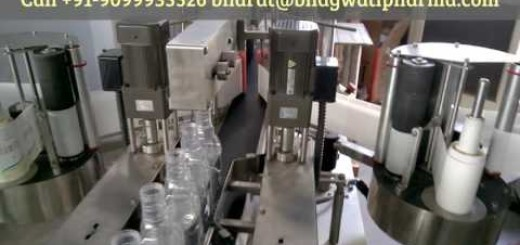 wine glass bottle labeling machine two sides label applicator manufacturer