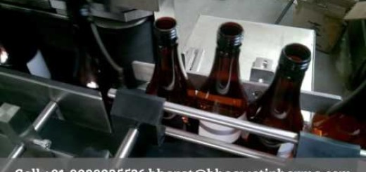 labeling machine for boost syrup bottle, dry syrup bottle, 60ml bottle