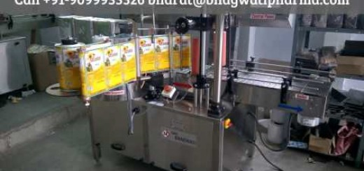 15 kg tin labeling machine – double / both / front and back side