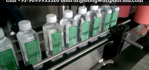 Double side sticker labeling machine for pet mineral square bottle