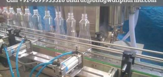 four head dish wash liquid filling machine, pet bottle filling machine
