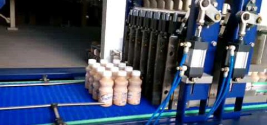 Juice bottle shirnk wrapping machine