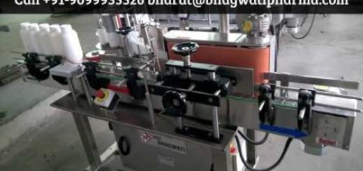 Pesticide Bottle Sticker Labeling Machine