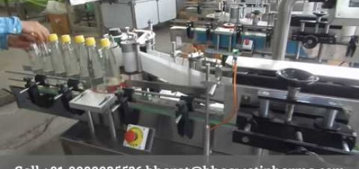 ketch up glass bottle sticker labelling machine, Auto label pasting machine
