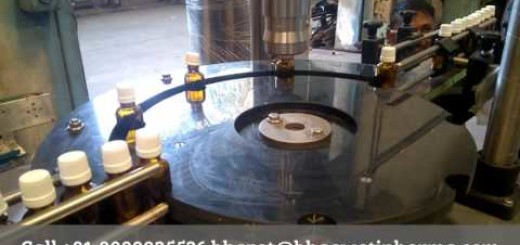 semi capping machine with conveyor for small pharma bottle, pet and hdpe