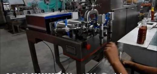 pneumatic   semi two head filling machine