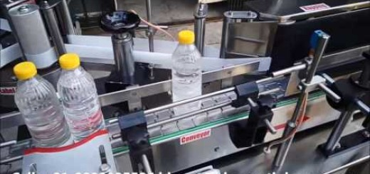 sticker labeling machine   round oil bottle