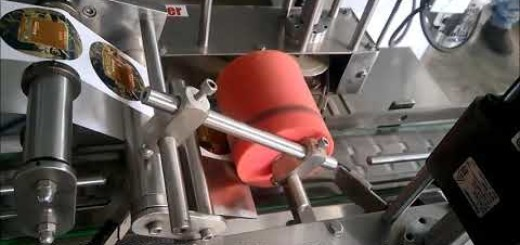 Top side label pasting machine for cream jar