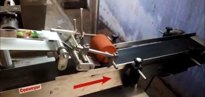 Top Side Pouch Labeling Machine
