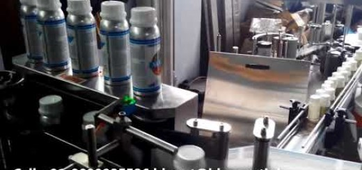 pesticide bottle sticker labelling machine
