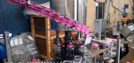 Six head screw capping machine with  elevator for chocolate jar